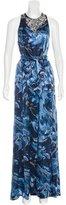 Thomas Wylde Embellished Silk Evening Dress