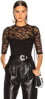 Fleur Du Mal Magnolia Lace Bodysuit in Black   FWRD