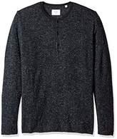 Billy Reid Men's Speckled Long Sleeve Sweater Henley