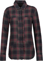 RtA Industrial plaid linen shirt
