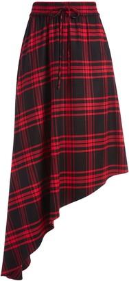 Alice + Olivia Natalina Asymmetrical Midi Skirt