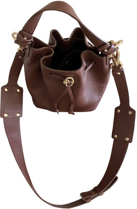 Aigner Brown Leather Handbags