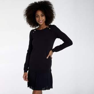 Naf Naf 2-in-1 Short Jumper Dress with Long Sleeves
