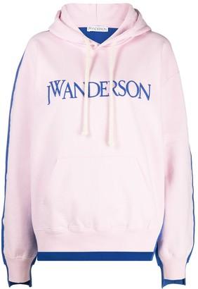 J.W.Anderson Deconstructed Fleece-Back Hoodie