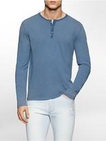 Calvin Klein Slim Fit Slub Faded Henley Shirt