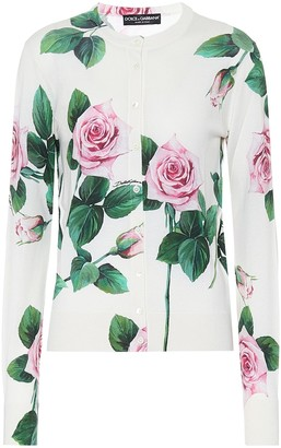Dolce & Gabbana Floral cashmere-blend cardigan