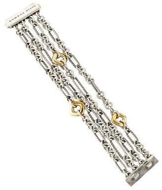 David Yurman Four Row Figaro Chain Bracelet