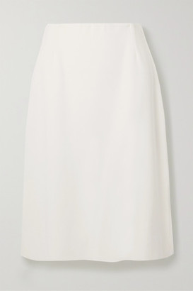 Agnona Wool, Silk And Cashmere-blend Skirt - White