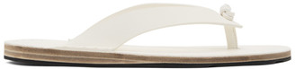 Jil Sander White Leather Sandals