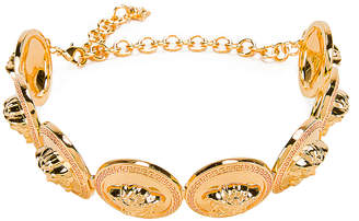 Versace Chunky Choker Necklace in Gold | FWRD
