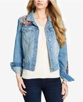 Jessica Simpson Cotton Embroidered Pixie Denim Jacket
