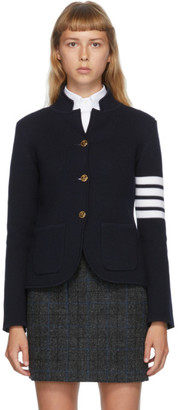 Thom Browne Navy Link Stitch 4-Bar Classic Blazer
