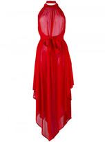 Balmain halterneck backless asymmetric dress