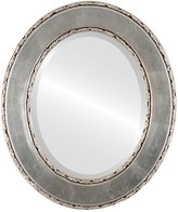 Oval And Round Mirrors OvalAndRoundMirrors.com Oval Beveled Mirror in a Paris style frame with outside dimensions