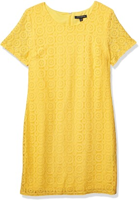 Sharagano Women's Tshirt Lace Dress