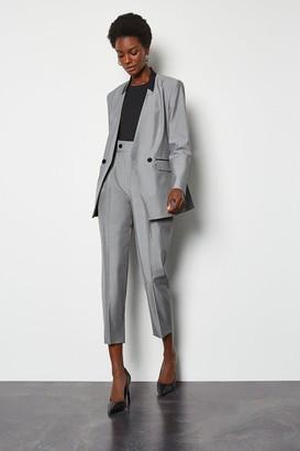 Karen Millen Luxe Silk Stretch Blend Tailored Trouser