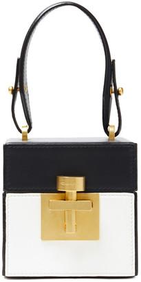 Oscar de la Renta Mini Alibi Color-block Leather Tote