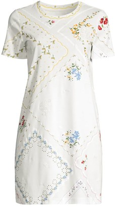 Tory Burch Handkerchief Printed Mini Dress