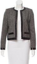 Saint Laurent Leather-Trimmed Wool Jacket