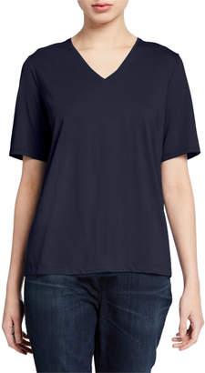 Eileen Fisher Petite Organic Cotton V-Neck Short-Sleeve Jersey Tee