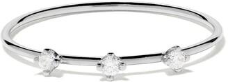 VANRYCKE 18kt white gold three diamond Stardust ring