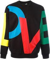 Love Moschino love print sweatshirt