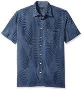 Van Heusen Men's Big and Tall Jacquard Short Sleeve Shirt