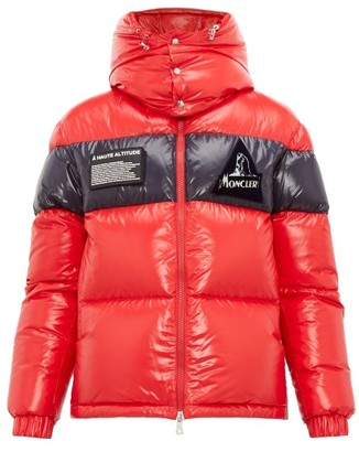 Moncler Gary Lacquered-outer Down-filled Coat - Mens - Red