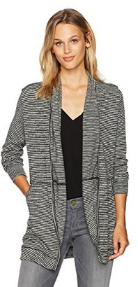 Taylor & Sage Women's Striped Brushed Hacci Cardigan