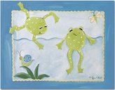 Doodlefish Gallery-Wrapped 20x16 Wall Art, Frog Pond