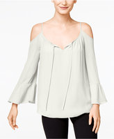 INC International Concepts Bell-Sleeve Cold-Shoulder Top, Only at Macy's