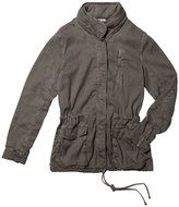 James Perse Stretch-Twill Utility Jacket in Platoon (Green), Size 2