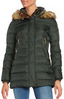 Vince Camuto Long Sleeve Hooded Puffer Jacket