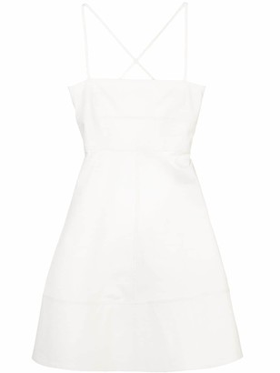 Proenza Schouler White Label Spaghetti Strap Short Dress