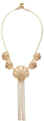 Rosantica Basquiat Crystal Clam Choker Necklace - Crystal
