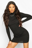boohoo Long Sleeve Neon Mini Dress