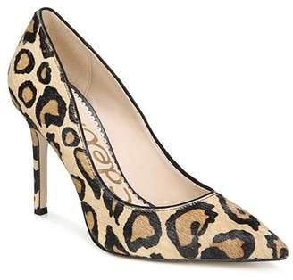 Sam Edelman Women's Hazel Pointed Toe Leopard-Print Calf Hair High-Heel Pumps