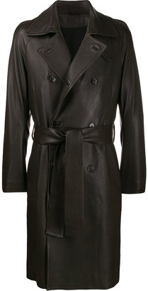 Ann Demeulemeester Double-Breasted Belted Coat