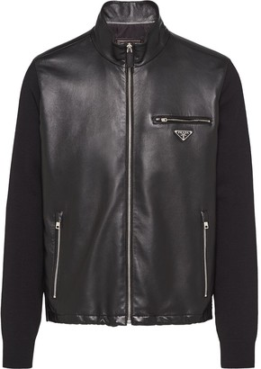 Prada Logo Plaque Panelled Jacket