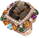 LeVian Le Vian Multistone Large Square Ring (12-1/6 ct. t.w.) in 14k Rose Gold
