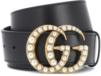 Gucci GG embellished leather belt