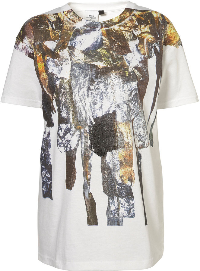 Topshop Foil Print Tee by Craig Lawrence**