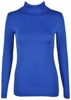 Forever Womens Beautiful Plain Polo Neck Long Sleeves Stretchy Top