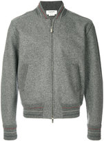 Thom Browne zipped knitted bomber jacket