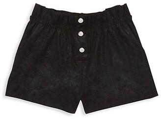 MIA New York Girl's Coated Snap Shorts