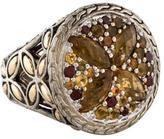John Hardy Batu Kawung Citrine & Garnet Ring