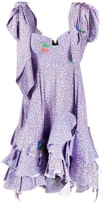 Natasha Zinko Floral Print Ruffled Mini Dress