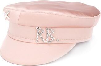 Ruslan Baginskiy Crystal-Embellished Logo Silk Hat