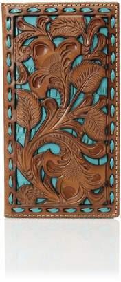 Nocona Belt Company Belt Co. Unisex-Adult's Floral Inlay Buckstitch Rodeo Wallet