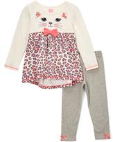 Nannette Off-White & Leopard Tunic & Leggings - Infant & Toddler